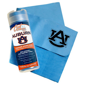 PRO VISION SPORTS AUBURN UNIVERS COOL COMFORT BLUE TOWEL