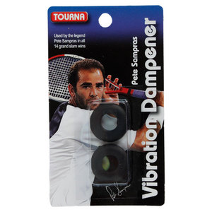 TOURNA SAMPRAS BLACK VIBRATION TENNIS DAMPENER