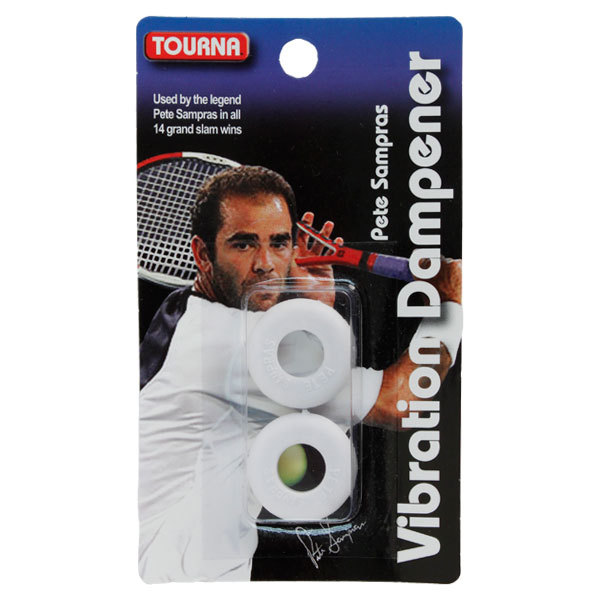 Sampras White Vibration Tennis Dampener