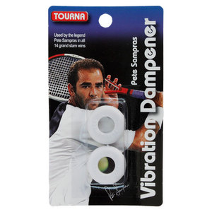 TOURNA SAMPRAS WHITE VIBRATION TENNIS DAMPENER