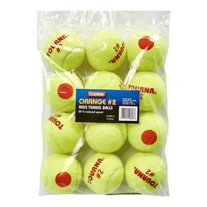 TOURNA STAGE 2 QUICKSTART TENNIS BALLS 12 PACK