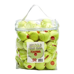 TOURNA STAGE 2 QUICKSTART TENNIS BALLS 50 PACK