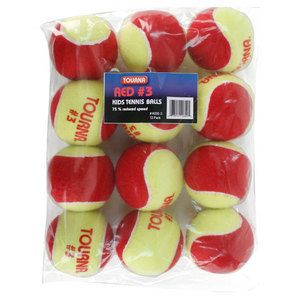 TOURNA STAGE 3 QUICKSTART TENNIS BALLS 12 PACK