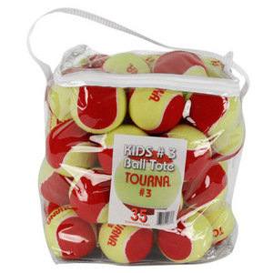 TOURNA STAGE 3 QUICKSTART TENNIS BALLS 35 PACK