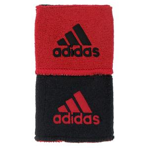 Interval Small Reversible Tennis Wristbands Black/Red