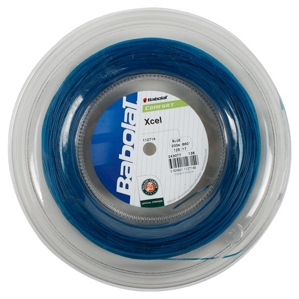 Tennis Express Babolat Xcel 17g Blue Reel Tennis String