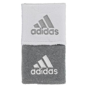 Interval Small Reversible Tennis Wristbands Gray and White