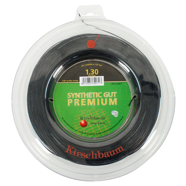 Syn Gut Premium Black 1.30/16g Reel Tennis String