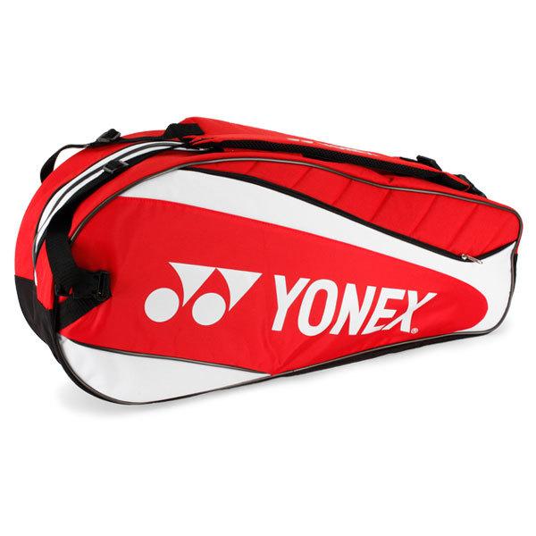 Tournament Red/White Six Pack Tennis Bag