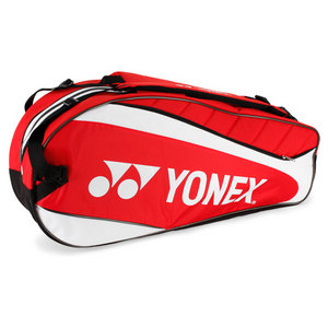 YONEX RED/ WHITE SIX PACK TENNIS BAG