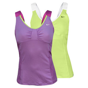 NIKE WOMENS TIE BREAKER KNIT TENNIS TANK