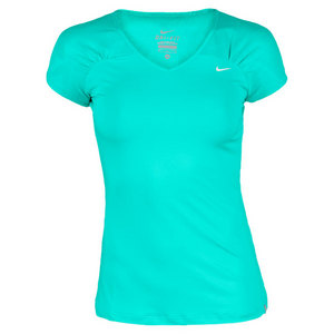 NIKE WOMENS TIE BREAKER KNIT TENNIS TOP