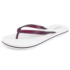 Women`s Emile White/Purple Flip Flops