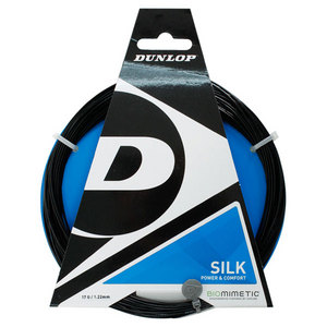 DUNLOP BIOMIMETIC SILK 17G BLACK TENNIS STRING