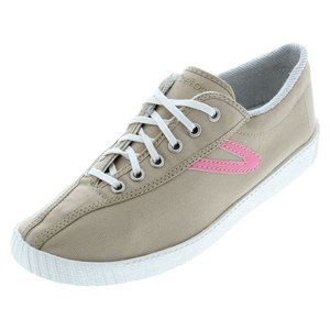 TRETORN MENS NYLITE CANVAS KHAKI/PINK SHOES
