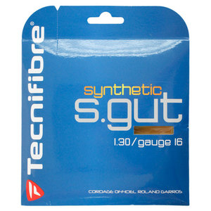 TECNIFIBRE SYNTHETIC GUT 16G GOLD TENNIS STRING