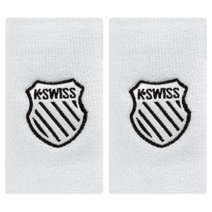 K-SWISS 5 INCH WHITE TENNIS WRISTBAND