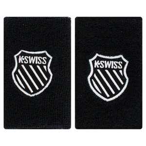 K-SWISS 5 INCH BLACK TENNIS WRISTBAND