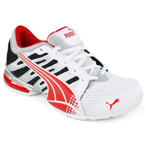 PUMA JUNIORS VOLTAIC 3 WHITE/RED SHOE