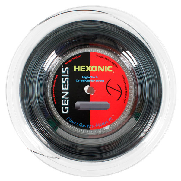 Hexonic 1.27 16l Reel Black Tennis String