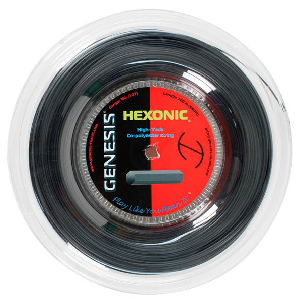 Hexonic 1.18 18g Reel Black Tennis String