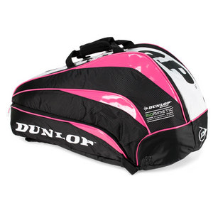 DUNLOP BIOMIMETIC 6 PACK PINK TENNIS BAG