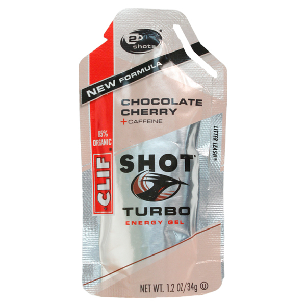 Clif Shot Turbo Chocolate Cherry Energy Gel With Caffeine