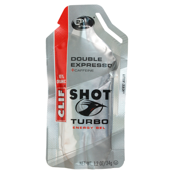 Clif Shot Turbo Double Espresso Energy Gel With Caffeine