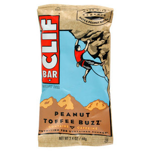 CLIF BAR AND CO PEANUT TOFFEE BUZZ WITH CAFFINE BAR