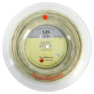 KIRSCHBAUM BASIC POLY 1.25/17G REEL TENNIS STRING