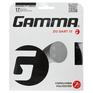 GAMMA ZO DART BLACK 17G TENNIS STRING