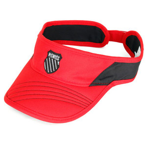 K-SWISS UNISEX KX FIERY RED/BLACK TENNIS VISOR