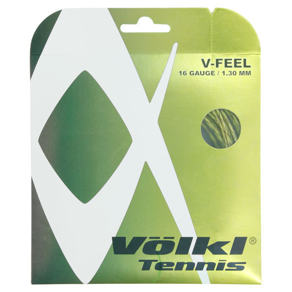 V- Feel Yellow Black Spiral 16g Tennis String