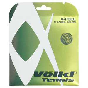 V-Feel Yellow Black Spiral 16G Tennis String