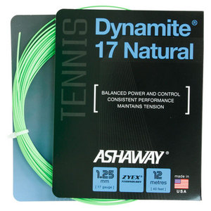 ASHAWAY DYNAMITE 17 NATURAL TENNIS STRING OPT GN