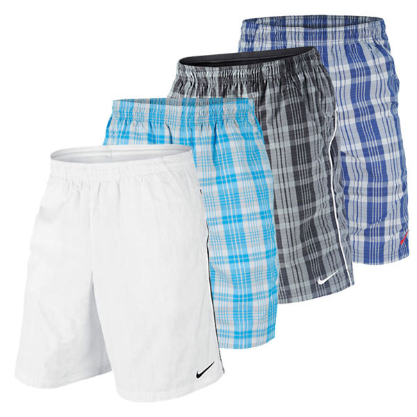 Men's Net 10 Inch Plaid Woven Tennis Short (1 Xxl Left!)