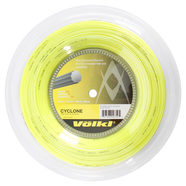 Cyclone 18g Neon Yellow Tennis String Reel
