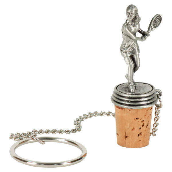 Female Tennis Player Wine Stopper