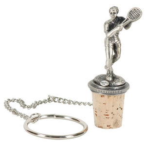 NAVIKA MALE TENNIS PLAYER WINE STOPPER
