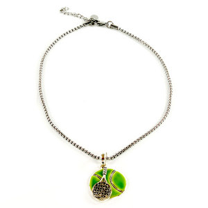 NAVIKA FLAT TENNIS BALL AND RACQUET NECKLACE