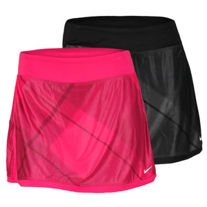 NIKE WOMENS PRINTED BORDER TENNIS SKIRT