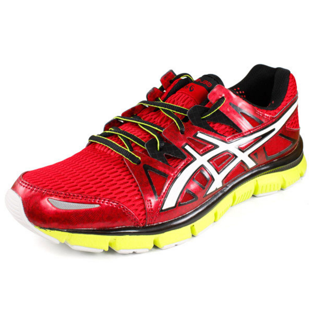 Asics Men`s Gel Blur 33 2.0 Running Shoes Red/White/Lime at Sears.com