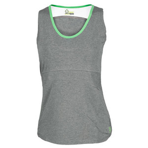 Women`s Continuum Performance Tank Heather Gray/Lime