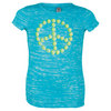 LOVEALL SS Junior Tahiti Blue Tennis Peace Tee