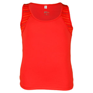TAIL GIRLS GRASS COURT RED HOTS TENNIS TANK