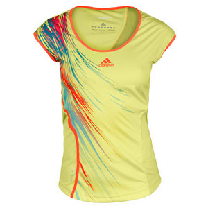 adidas WOMENS ADIZERO LIME TENNIS CAP SLEEVE