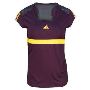 adidas WOMENS ADIPOWER DARK VIOLET CAP SLEEVE
