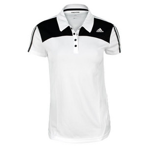 adidas WOMENS RESPONSE WHITE/BLACK TENNIS POLO