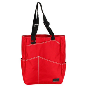 MAGGIEMATHER MAGGIE MATHER TENNIS RED TOTE