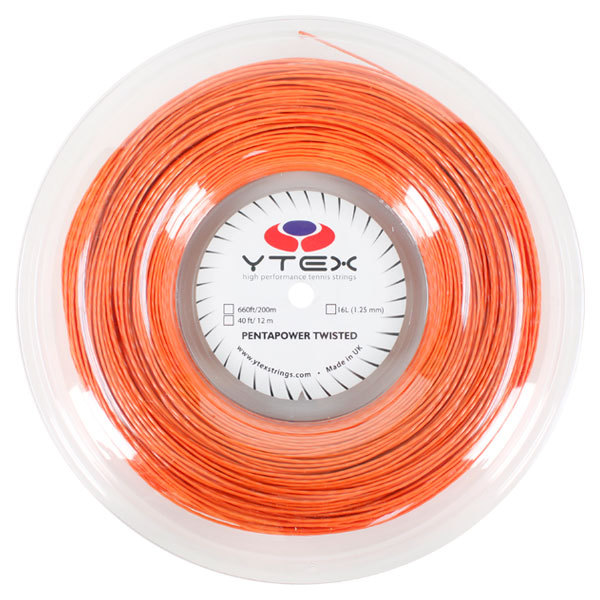 Pentapower Twisted Terracota 1.25mm/16l Tennis String Reel